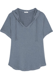 Hooded stretch-modal jersey top