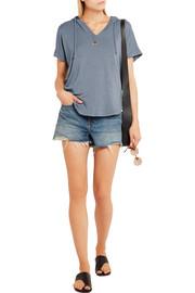 Splendid Hooded stretch-modal jersey top