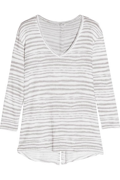 Splendid - O'keeffe Striped Knitted Sweater - Light gray