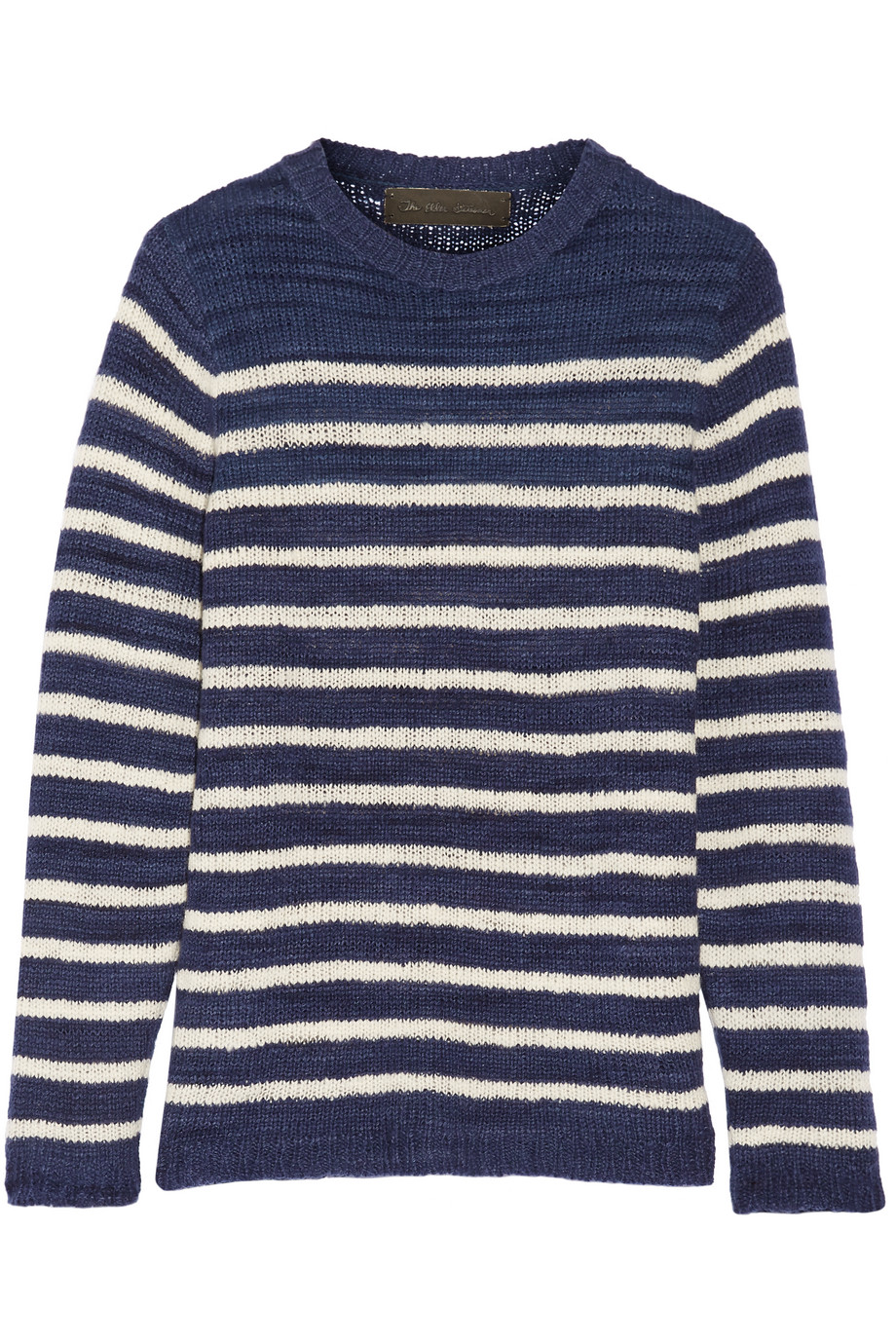 Picasso Striped Cashmere Sweater, The Elder Statesman, Navy, Women's, Size: M