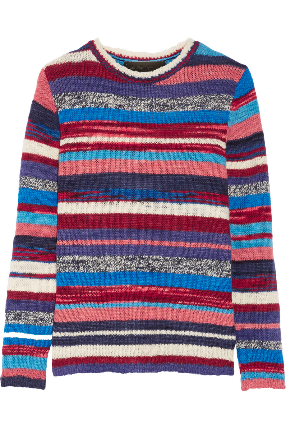 Striped Cashmere Sweater, The Elder Statesman, Red/Blue, Women's, Size: L