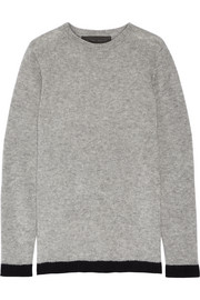 The Elder Statesman Five Picasso two-tone cashmere and silk-blend sweater