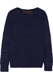 The Elder Statesman Textured cashmere sweater