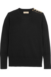 Burberry London Embellished cashmere sweater