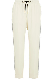 Burberry Striped mulberry silk track pants