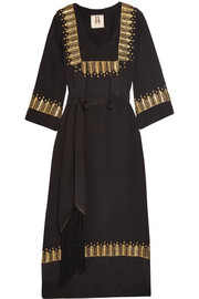 Chachani embellished silk dress