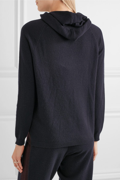 Autumn Cashmere Hooded Cashmere Pullover with Contrast Ties Details EXCLUSIVELY AT NEIMAN MARCUS Autumn Cashmere sweater with contrast ties. Hooded neckline. Long sleeves. Relaxed fit. Pullover style. Cashmere; polyester ties. Imported.