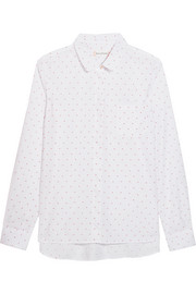 Chinti and Parker Peter Pan Swiss-dot cotton shirt
