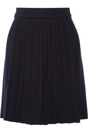 Chinti and Parker Pleated wool-blend skirt