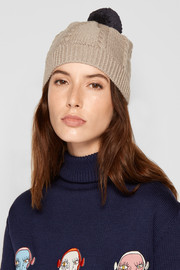 Chinti and Parker Aran cable-knit merino wool beanie