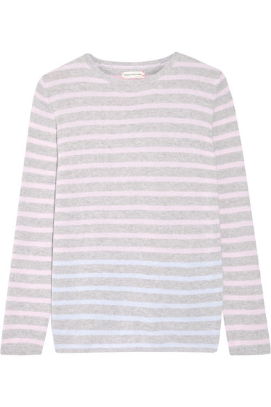 Chinti and Parker - Striped Cashmere Sweater - Pastel pink