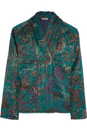 Theodose quilted silk jacket