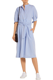 Cotton-poplin midi dress