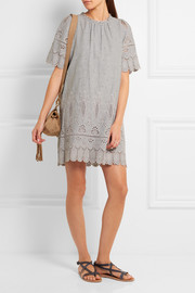 SEA Broderie anglaise cotton mini dress