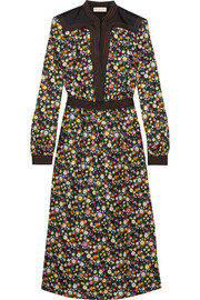 Tory Burch Promenade floral-print silk-twill dress