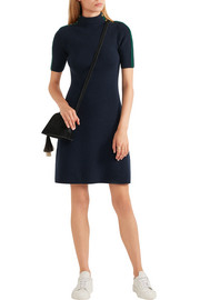 Tory Burch Sardy ribbed merino wool mini dress