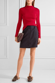 Tory Burch Sardy striped ribbed wool turtleneck sweater