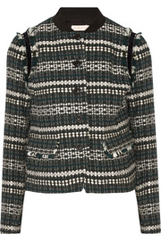 Tory Burch Norfolk sequin-embellished tweed jacket