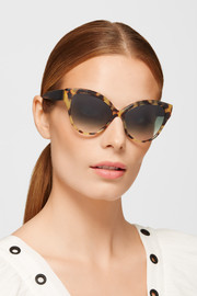Cutler and Gross Tequila Sunrise cat-eye acetate sunglasses