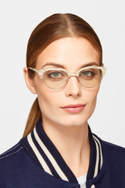 Cutler and Gross Cat-eye acetate and rose gold-tone optical glasses