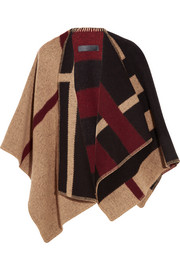 London checked wool and cashmere-blend wrap