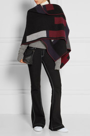 Burberry Prorsum Checked wool and cashmere-blend wrap