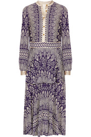 Tory Burch Tovero printed crepe de chine midi dress