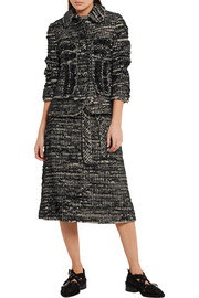 Simone Rocha Crystal-embellished metallic tweed jacket