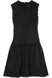 Simone Rocha Frayed bouclé-tweed mini dress