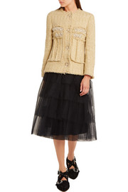 Simone Rocha Embellished metallic tweed jacket