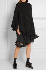 Simone Rocha Frayed open-knit wool sweater