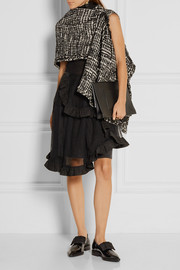 Simone Rocha Embellished metallic tweed wrap