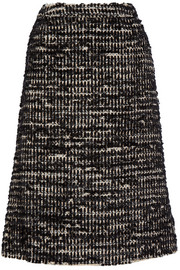 Metallic tweed midi skirt