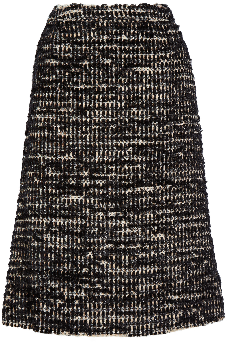 Simone Rocha Metallic Tweed Midi Skirt, Size: 8