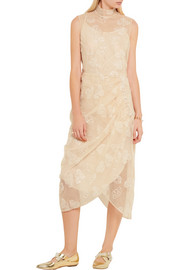 Simone Rocha Gathered embellished tulle dress