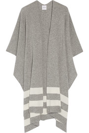 Towton striped cashmere wrap