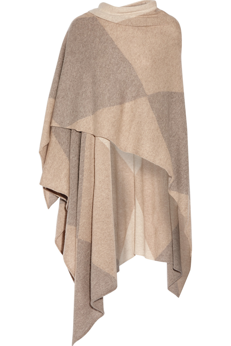 Fulford Color-Block Cashmere Wrap, Madeleine Thompson, Beige, Women's