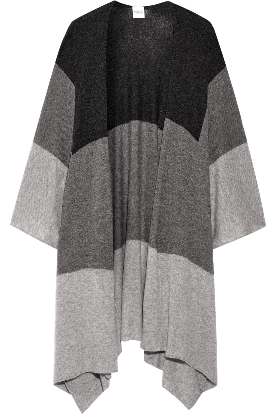 Ingelby Color-Block Cashmere Wrap, Madeleine Thompson, Gray, Women's