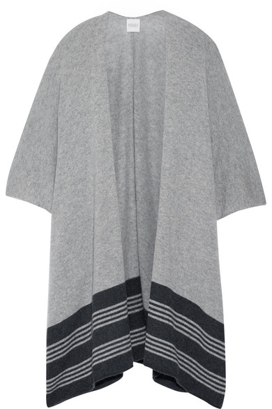 Madeleine Thompson - Marrick Striped Cashmere Wrap - Gray