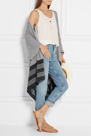 Marrick striped cashmere wrap