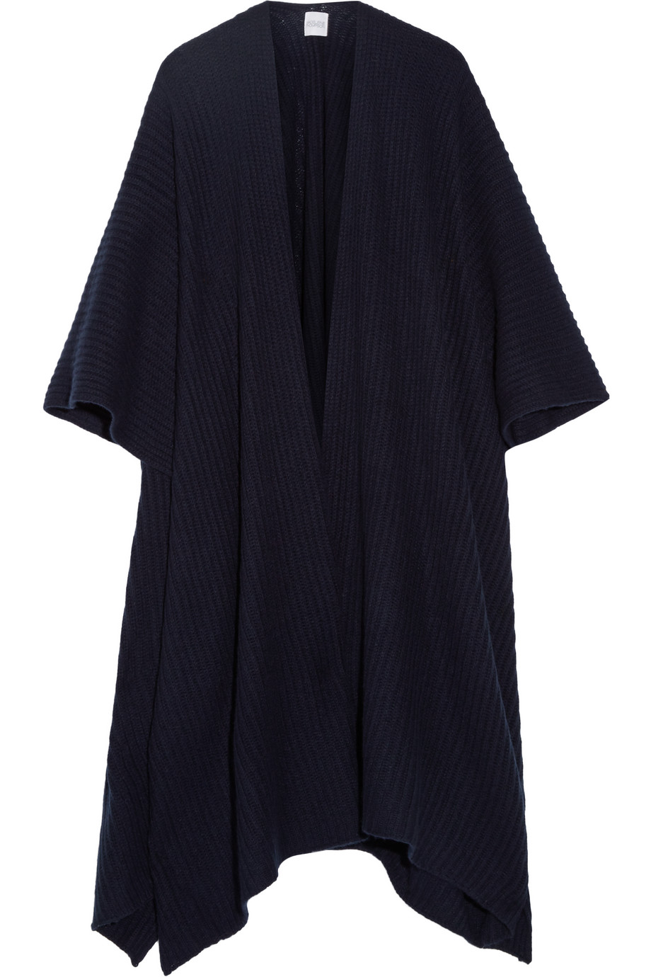 Ribbed Cashmere Wrap, Madeleine Thompson, Navy, Women's