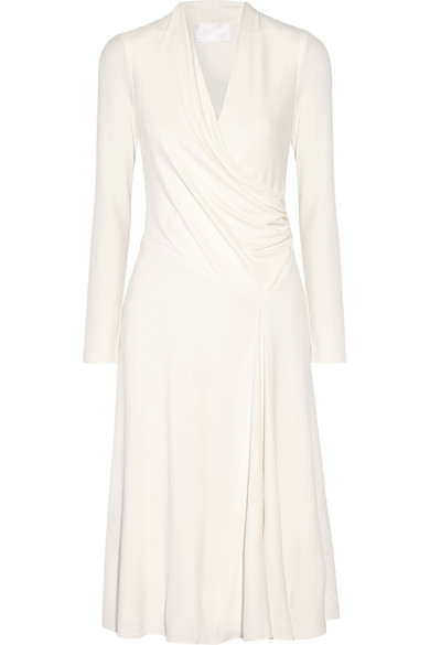 Cushnie et Ochs - Grace Wrap-effect Stretch-jersey Dress - Off-white