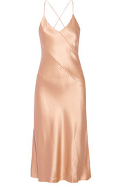 Cushnie et Ochs Rosie silk-charmeuse midi dress