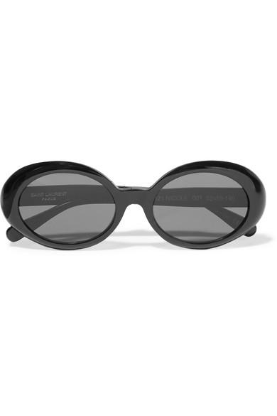2e80b2451c4 Saint Laurent. Round-frame acetate sunglasses