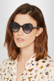 Alexander McQueen Butterfly-frame acetate polarized sunglasses
