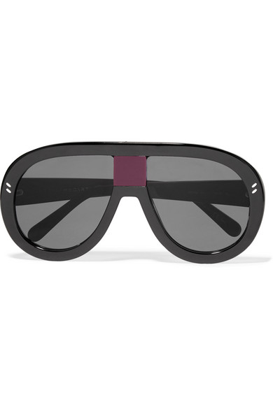 c05c83f2521e Stella McCartney. D-frame acetate mirrored sunglasses