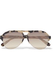 D-Frame chain-embellished acetate sunglasses