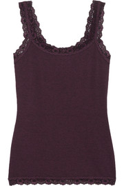 Hanky Panky Heather lace-trimmed stretch-jersey camisole