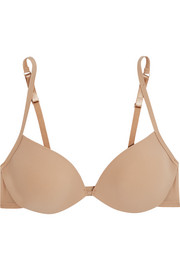 Sheer Tactel stretch-jersey padded bra