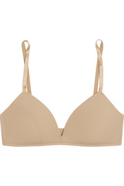 Bodas Sheer Tactel stretch-jersey soft-cup triangle bra